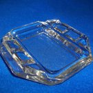 """Smokers Tray Square Clear Square 5 1/2"""" Six Notches Smoker or Bedside Table"""