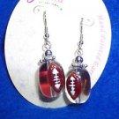 Football Fashion Jewelry Pierced Hand Painted Drop NEW