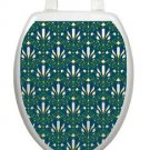 Toilet Tattoos Peacock Feathers Lid Cover  Decor  Reusable Vinyl