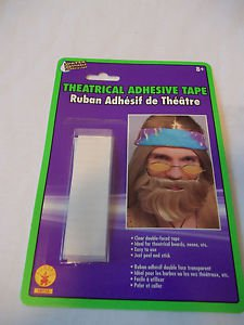 Tape Double Faced Theatrical Adhesive for Beards, Noses  Peel and Stick