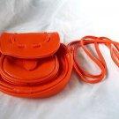 Cross Body Bag PurseAdjust Strap Pocket Zipper Faux Leather Pumpkin