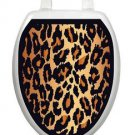 Toilet Tattoos Toilet Seat Leopard Brown Vinyl Reusable
