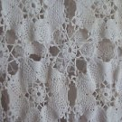 """Hand Crocheted Dresser or Table Scarf Runner Shawl  Vintage White 14"""" x 54"""""""