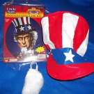 Amercan Patriotic Uncle Sam Disguise Kit Hat Accessories Heroes in History USA