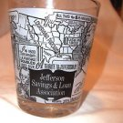 VTG Advertising Tumbler  Jefferson Savings & Loan Va.  Monticello Memorabilia