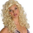 Wig Blonde Long  Curley Kanekalon Washable Breathable Wig Cap Natural Look NEW
