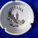 "Smokers Tray Cigarette Pottery 4"" Round  Canada Windsor Gray Vintage"