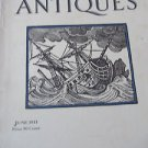 Magazine ANTIQUES June 1933 Photographs French Silver Costumed Miniatures