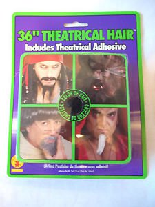 "Crepe Hair 36""  Theatrical White NEW With Tube of Adhesive"
