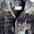 Havana Jack's Cafe Hawaiian Tropical Shirt Brown Small  Type Vtg Look