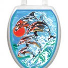 Toilet Tattoos Dolphna Synchronized Swim Toilet Lid Decoration Reusable