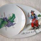 Cowboy Smoking Tray Dish Souvenir White   Grapes Teabag Holder