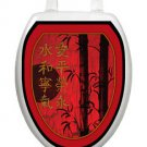 Toilet Tattoos Toilet Seat Lid  Decor Red Delight Oriental Theme Lid Cover  1030