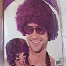 Wig Clown Wig Purple Color  Fuzzy Afro NEW Forum Adult Size Comfortable