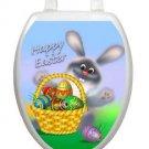 Toilet Tattoos Toilet Seat Decor Happy Easter Bunny Vinyl Reusable Free Shipping