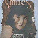 Sheet Music Vintage 1917 Smiles Beautiful Woman Artwork