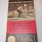 Vintage Bicycle Instructions and Notes Murray Raleigh Schwinn 1970's Vintage