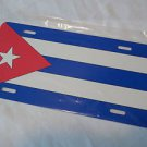 Auto Cuban  Plate for your Car or Truck 6 x 12 Metal Cuban Flag