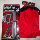 Ninja Playset 4 piece 6-8 yr Poly.Hood Ninja Sticks  Plastic  NEW