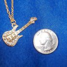 Guitar Fashion  JewelryNecklace Pendent with Rhinestone Earrings  NEW