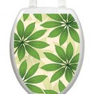 Toilet Tattoos Toilet Seat Decor  Floating Leaves  Quirky Fun Green Vinyl #1111