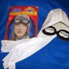 Scarves Heroes in History Pilot Helmet Goggles White Scarf  Amelia Earhart