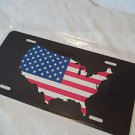 Flag Plate All Under One for your Car or Truck 6 x 12 Metal American Flag
