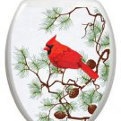 Toilet Tattoos Winter Cardinal Removable Vinyl Decor #1095