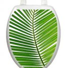 Toilet Tattoos Bathroom Palm Frond Lid Decor Vinyl Removable Green Reusable