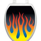 Toilet Tattoos Toilet Seat B & B  Flames Red Yellow Blue Reusable