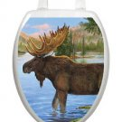 Toilet Tattoos Majestic Moose Vinyl Seat Lid  Cover Wild Outdoors Water Reusable