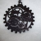 Necklace Steam Punk Victorian Industrial Theme  Pendent Gears  Free Shipping