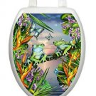 Toilet Tattoos Frogs in the Moonlight Seat Cover Vinyl  Tree Frogs LS01