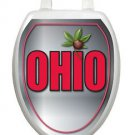 Ohio Toilet Tattoos Ohio Silver   Bathroom Seat Decoration Vinyl Removable