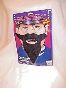 Beard Black Captain Captains Sailor Beard Black Moustache Facial Hair Accessory