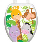 Toilet Tattoos Toilet Seat Lid Decoration Gentle Jungle Childrens Vinyl Reusable