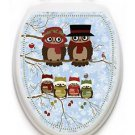 Toilet Tattoo OWL Toilet Lid Cover Who Said Winter Owls Reusable Vinyl Lid Cover