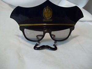 Police Glasses with Moustache  Mirrored Sun Stache  As Seen on TV