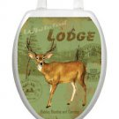 Toilet Tattoos Toilet Lid Cover  Decor Deer Lodge Reusable  Vinyl Free Shipping