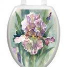 Toilet Tattoos Toilet Lid Cover  Decor Watercolor Iris Reusable Vinyl #1083