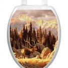 Toilet Tattoos Toilet Seat Lid  Decor Elk Bull Seat  Lid Cover  Brown Reusable