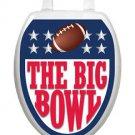 Toilet Tattoos Toilet Lid Cover  Decor Big Bowl Football  Reusable  Vinyl
