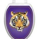 Toilet  Tattoo Purple Tiger  Vinyl Lid Decoration Reusable Bathroom Lid Decor