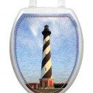 Toilet Tattoos Toilet Seat Lid Decoration Cape Hatteras Lighthouse  Blue Reusabl