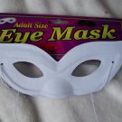Eye Mask  White  Mardi Gras Domino Fabric  Adult Woman's