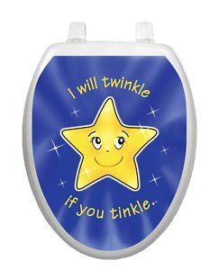 Toilet Training Toilet Tattoo with Twinkle Stickers Free Shipping