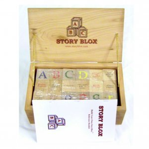 Keepsake Box of StoryBlox - Hardwood Cherry