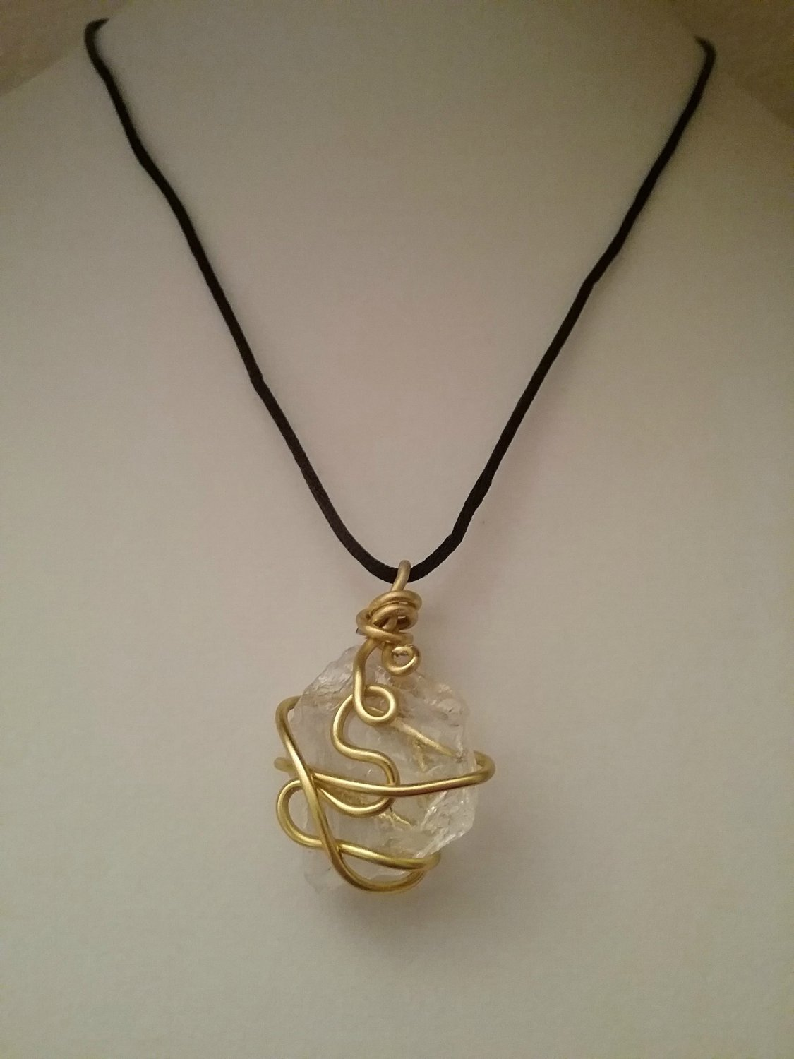 Gold Wire Wrapped Sea Glass Pendant (#GSG-98)