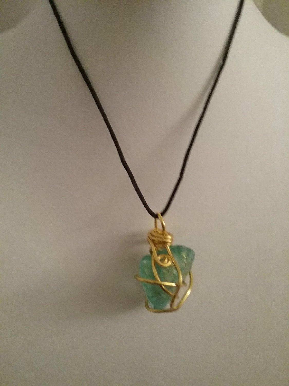 Green Sea Jumbo Glass Pendant (#ASGJ-40)