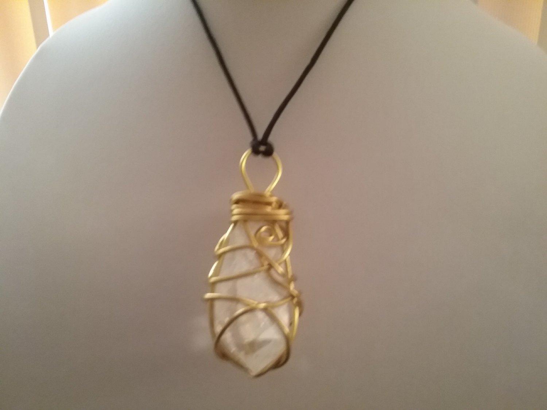 Gold Wire Wrapped Quartz Crystal  (#CRG-QGO32)